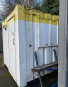 8ft x 8ft site office security hut welfare container