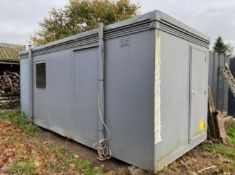 20ft x 8ft open plan site office container