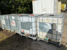 Joblot of 4 used IBC tanks 1000 litres