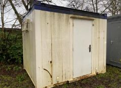 10ft x 8ft drying room container cabin site office