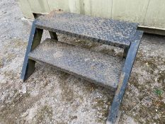 2 tread steel steps -