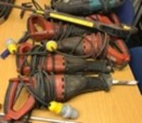 Reciprocating Saws ( 5 x Hilti, 3 x Makita, 1 x Makita Spares or repairs x 8