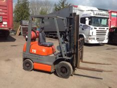Toyota 1.5 ton gas forklift container spec