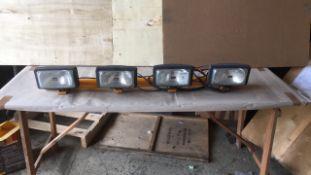 Truck cab light bar
