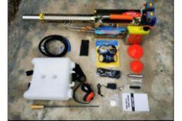 Back Pack Dust Suppression/Sanitising Gun