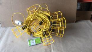 Festoon 110v work site lights