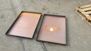 Steel workshop drip trays 2ft x 3ft