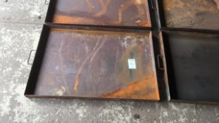Steel workshop drip trays