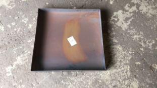 Steel 2ft x 2ft garage drip tray