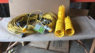 Festoon 110v light string