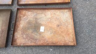 Steel drip tray 2ft x 3ft qty 4