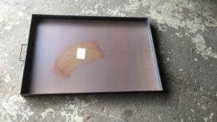 Steel 2tf x 3ft garage drip tray