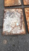 Steel workshop 2ft x 3ft drip tray qty 4