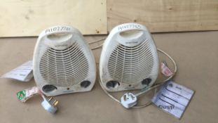 Pro-Elec Pel00495 2kw fan heaters x 2