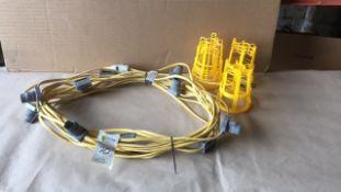 Festoon 110v site work lights