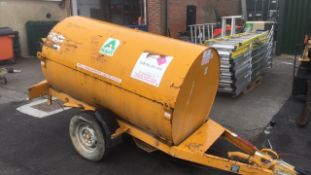 Fuel Bowser 950ltr fast tow