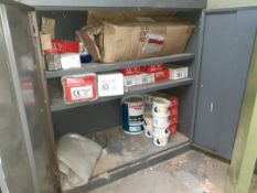 Cupboard and contents