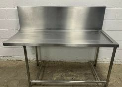 Dishwasher outlet/exit table with high stand