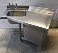Bespoke righthand dishwasher entry sink with cupboard