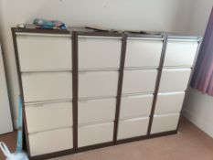 6 filing cabinets all 4 draws, all with keys - No Reserve Location - Sheffield S21