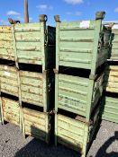 Schafer Swarf/Storage Stackable Metal Bins (6 of)
