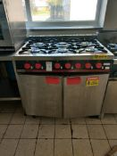 Bartlett yeoman 6 gas hob and oven