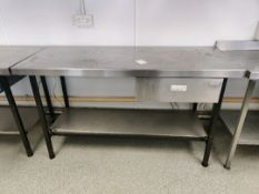 Stainless steel prep station with drawer
