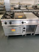 Baron 2 Gas hob, hot plate and oven with side