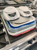 Mixed lot of trays scales and and metal tubs