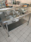 Stainless steel prepping station