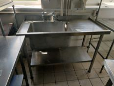 Stainless steel single washing unit