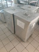 Flour bins x3