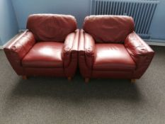 Red Leather chairs x5