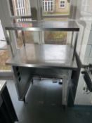 Stainless Steel Shelved Unit