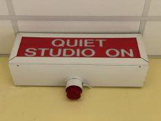 Retro Studio On Illuminated Sign