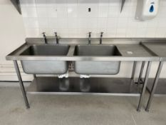 Stainless Steel Double Bowl Sink Unit