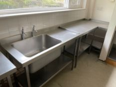 Stainless Steel Single Bowl Sink Unit & Table