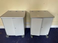 Pair Of Moby Go Mobile Storage Cabinets