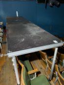 Heavy Duty Aluminium Tables x 2