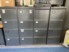 Metal filing Cabinets x 4