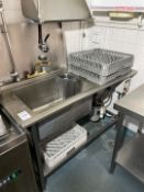Stainless Steel Single Bowl Sink Unit C/W waste Di