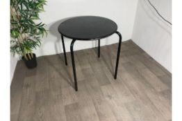 Steel Circular Black Table