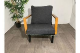 Mid Century Wooden Lounge Chair
