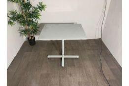 White Cast Iron Rectangular Table