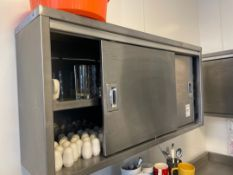 Stainless Steel wall Units x2