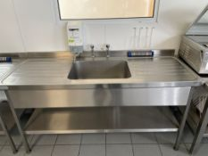 Stainless Steel Single Bowl Sink Unit