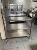 Mobile Stainless Steel Storage Rack