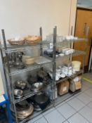 Stainless Steel Storage Racks 2 Off & Contents