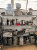 Stainless Steel Rack & Contents