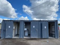 40ft x 10ft office, kitchen and toilet container cabin
